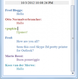 Skype IM Pretty Printer